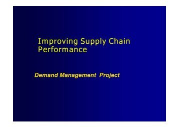 Lean Manufacturing and Supply Chain Management (II) - P2005
