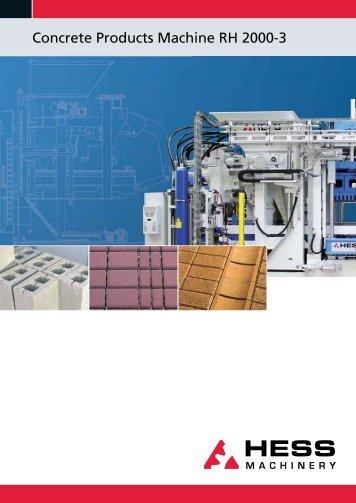 Concrete Products Machine RH 2000-3