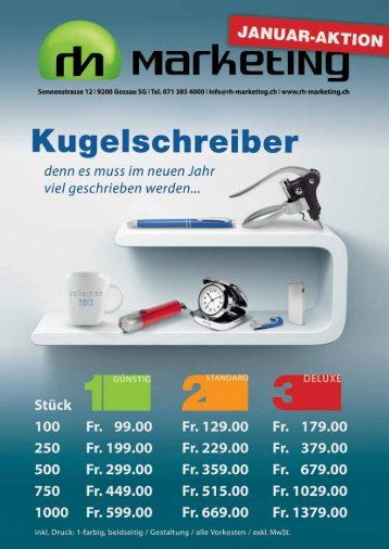 Tel. 071 385 4000 | info@rh-marketing.ch