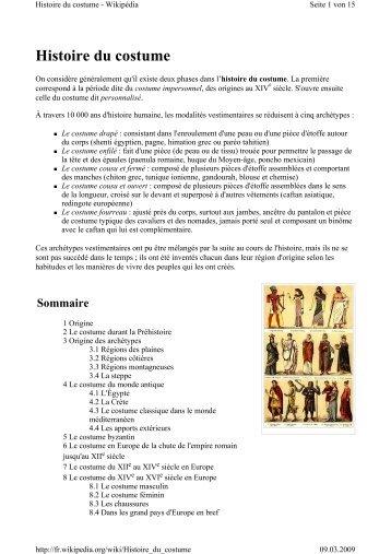 Histoire du costume - Ning Mui Kung Fu Organisation