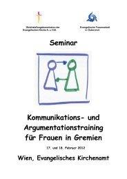 Rhetorikseminar 17 -18 2 2012 - Evangelische Kirche Wien