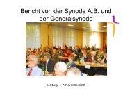 Bericht von der Synode - Evangelische Kirche Wien