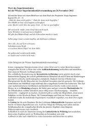 Wort des Superintendenten - November 2012 - Evangelische Kirche ...