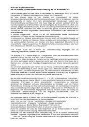 Wort des Superintendenten - November 2011 - Evangelische Kirche ...