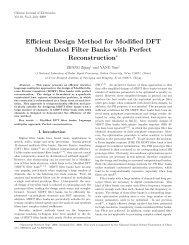 Efficient Design Method for Modified DFT Modulated Filter Banks ...