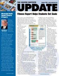 Fitness Report Helps Students Set Goals - Cooper Institute