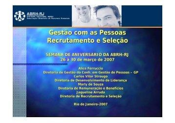 Gestão com as Pessoas Recrutamento e Seleção - ABRH-RJ