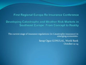 The Current State of Insurance Regulations and ... - EUROPA RE