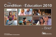 The Condition of Education 2010 in Brief - ERIC - U.S. Department ...