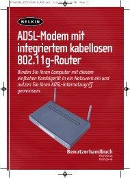 Adsl-Modem mit integriertem kabellosen 802.11g-Router