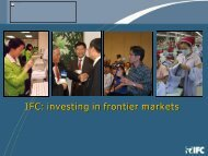 IFC: Investing in Frontier Market - ACLEDA Bank Plc.