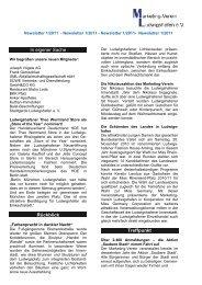 Newsletter 1/2011 - Marketing-Verein Ludwigshafen eV