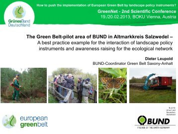 The Green Belt-pilot area of BUND in ... - GreenNet Project