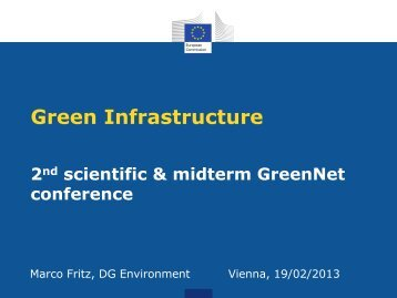 Green Infrastructure - GreenNet Project