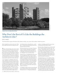 Why Don't the Rest of Us Like the Buildings the Architects Like?