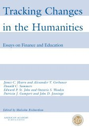 Tracking Changes in the Humanities - American Academy of Arts ...