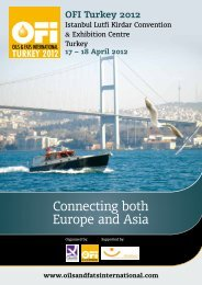 Connecting both Europe and Asia - Oil & Fats International