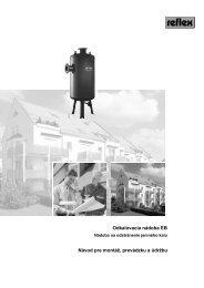 Odkalovacia nádoba EB Návod pre montáž, prevádzku a ... - Reflex