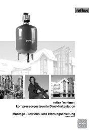 reflex 'minimat' kompressorgesteuerte Druckhaltestation Montage ...