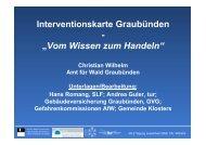 Vortrag über Interventionskarten in Graubünden