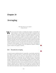 Chapter 17 - Averaging - ChaosBook.org