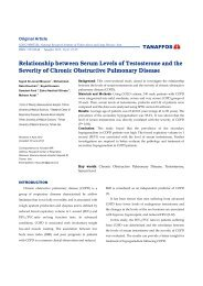 Relationship between Serum Levels of Testosterone and ... - Tanaffos