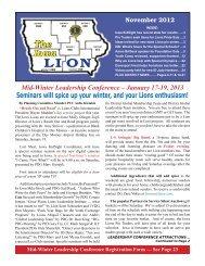 November 2012 - Lions Clubs of Iowa