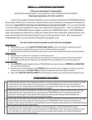 grade 11 – fitnessgram task prompt fitnessgram task rubric
