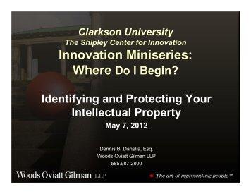 Innovation Miniseries: - Clarkson University