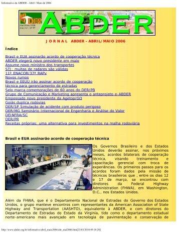 Informativo da ABDER - Abril / Maio de 2006 - Coweb - Soluções On ...