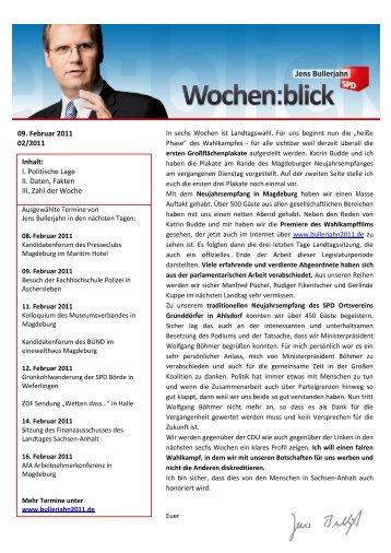 Wochenblick 02/2011 - Jens Bullerjahn