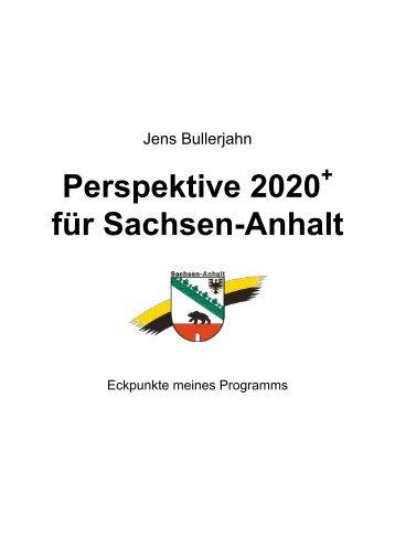 """Strategiepapier """"Perspektive 2020+"""" - Jens Bullerjahn"""