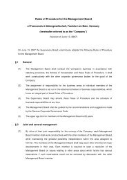 Rules of Procedure for the Management Board