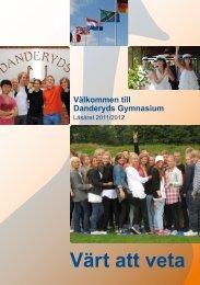 Värt att veta - Danderyds gymnasium - Danderyds kommun