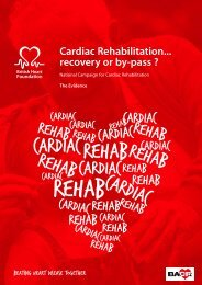 The Scientific Evidence for cardiac rehabilitation