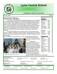 July 2012 Newsletter - Lyme Central School