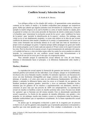 Krebs y Davies, 1993 - Laboratorio de Evolución - Facultad de ...