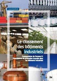 industriels Le classement des bâtiments
