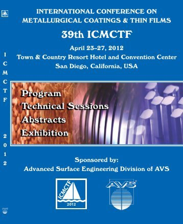 ICMCTF 2012! - CD-Lab Application Oriented Coating Development