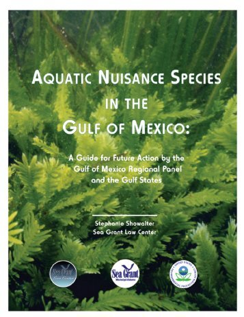 Aquatic Nuisance Species in the Gulf of Mexico - Mississippi ...