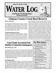 Volume 20, Number 4 - Mississippi-Alabama Sea Grant Legal ...
