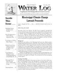 Water Log 29.3 - Mississippi-Alabama Sea Grant Legal Program