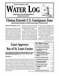 Water Log 19.3 - Mississippi-Alabama Sea Grant Legal Program