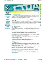 Page 1 of 2 CTDA Newsletter - 2008 12/11/2008 file://H:\ctdahome ...