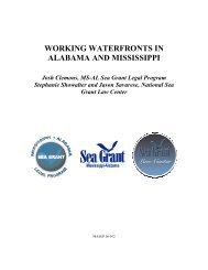 WORKING WATERFRONTS IN ALABAMA AND MISSISSIPPI