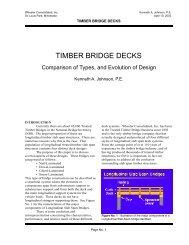 Timber Bridge Decks - Wheeler