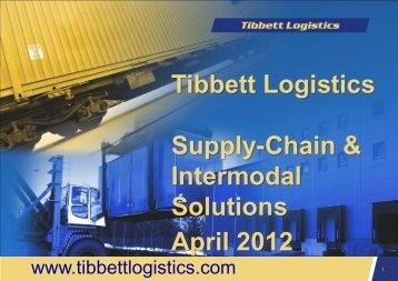 Who is Tibbett Logistics? - Club Feroviar Conferences