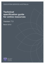 Technical specification guide for online resources - National Digital ...