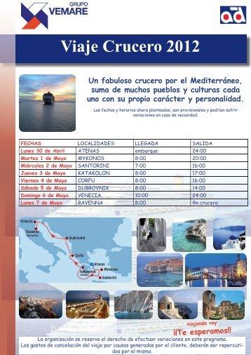 VIAJE CRUCERO 2012.indd - Grupo Vemare