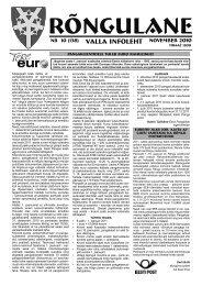 November 2010 - Rõngu Vald